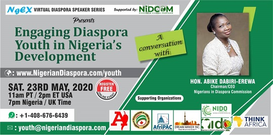 Nigerian Diaspora youth in a conversation with Hon. Abike Dabiri-Erewa